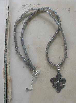The Fleur de Lis Necklace Sterling Silver