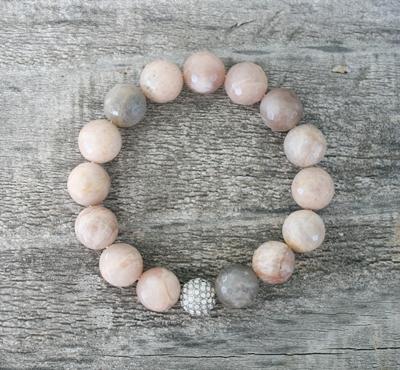 Semi precious stretch bracelet