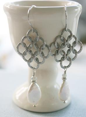 Fresh Water Pearl and Sterling Earrings - The Larissa Earrings
