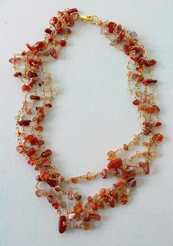 Carnelian Layered Necklace - The Ida Necklace