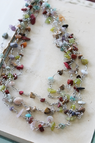 3 or 4 Strand Mixed Gem Necklace - The Nova Necklace