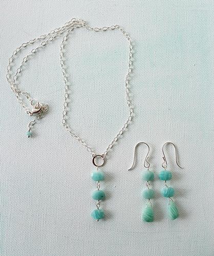 Amazonite Petite Trio Necklace - The Julia Necklace