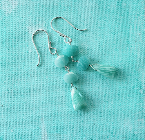 Amazonite Trio Earrings - The Julia Earrings