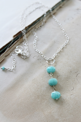 Amazonite Petite Trio Necklace - The Julia Necklace