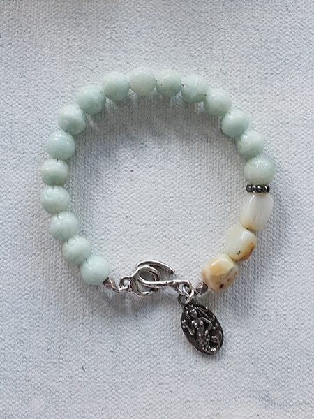 Amazonite and Opal Mermaid Bracelet