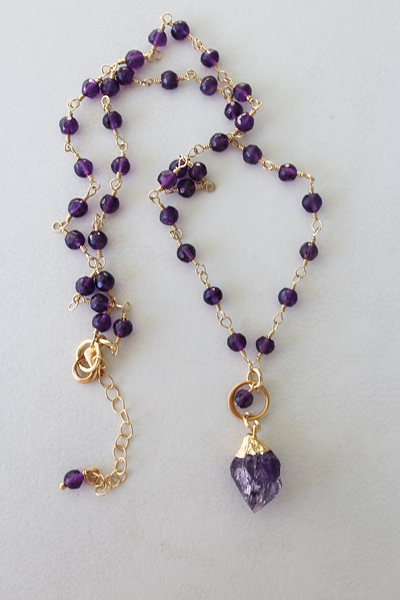 Amethyst Drop Necklace - The Inga Necklace