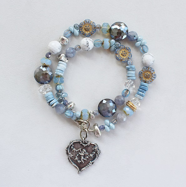 Mixed Gem and Czech Glass Bracelet - The Anna Bracelet