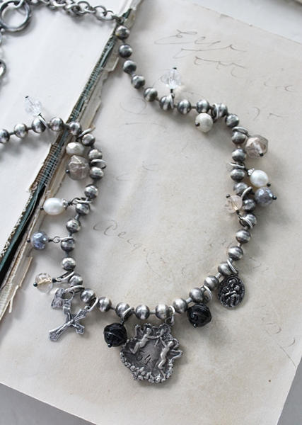 Mixed Bead Ball Chain Necklace - The Angel Necklace