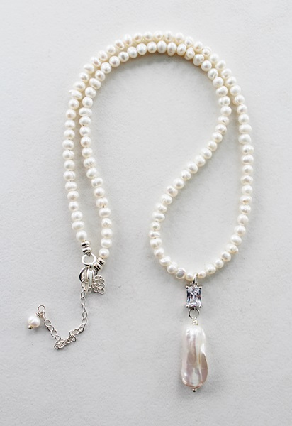 Fresh Water Biwa Pearl Necklace - The Lacey Necklace