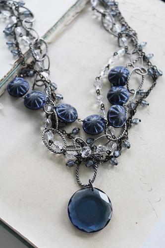 Vintage Blue 4 Strand Necklace - The Grace Necklace