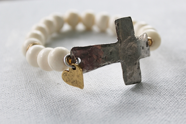 Bone Cross Bracelet - The Favored Bracelet