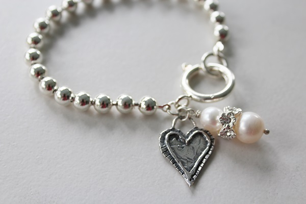 Sterling Silver Clad Ball Chain Bracelet - The Callie Bracelet