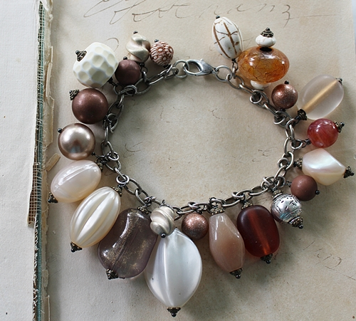 Market Day Trinket Bracelet - Amber Bronze and Cream