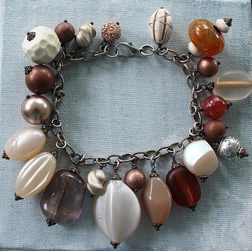Market Day Trinket Bracelet - Amber Bronze and Cream