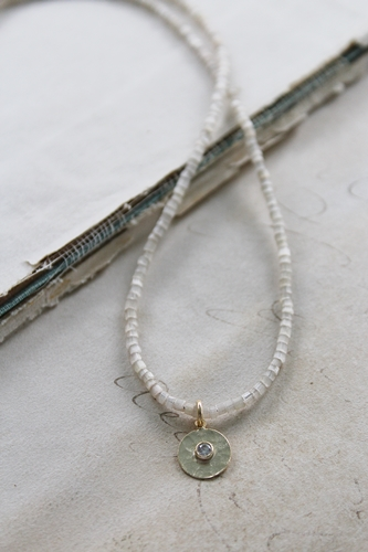 Vintage  Cane and CZ Necklace - The Blaire Necklace