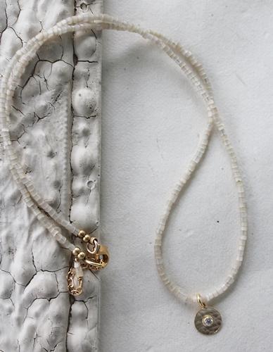 Vintage  Cane and CZ Necklace - The Blaire Necklace