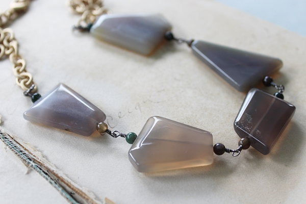 Chunky Agate Necklace - The Paige Necklace