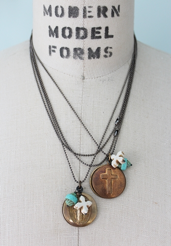 Lords Prayer Cross or Blessed Mother Necklace - The Prayer Necklace