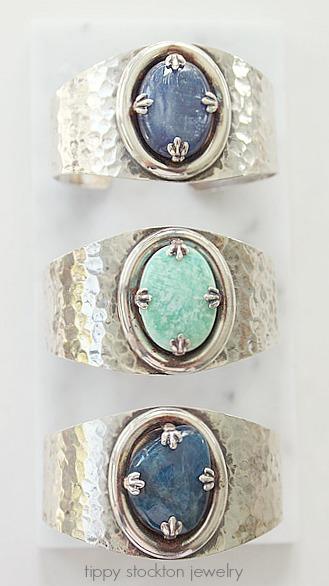 Semi-Precious Sterling Clad Cuffs - The Josie Bracelet