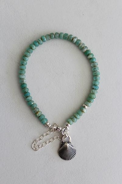 Czech Glass and Sterling Silver Skinny Bracelet - The Ainsley Bracelet