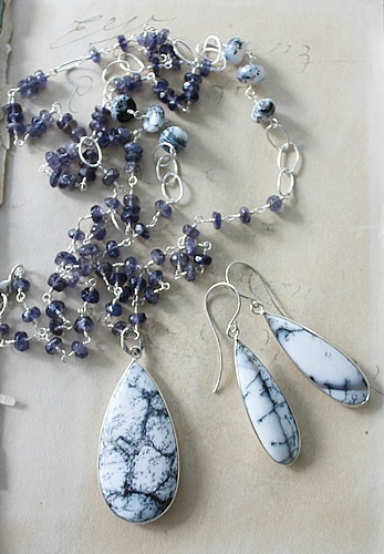 Dendritic Opal Earrings - The Lorelei Earrings