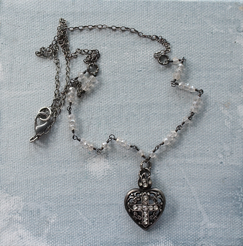 Ex Voto Rhinestone Heart Pendant - The Caivino Necklace