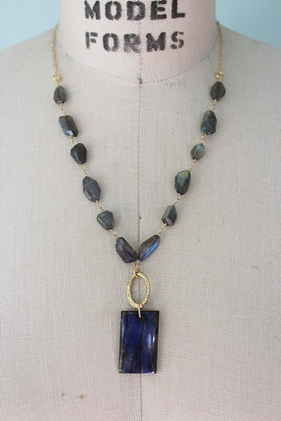 Labradorite and Gold Necklace - The Frances Necklace