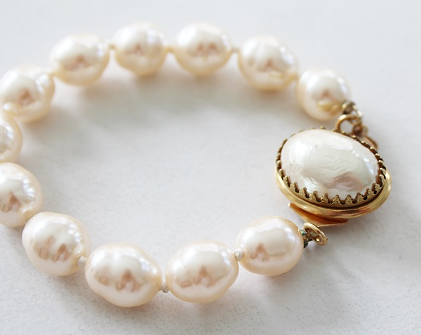 Miriam Haskell Pearl Bracelet - The Mona Bracelet