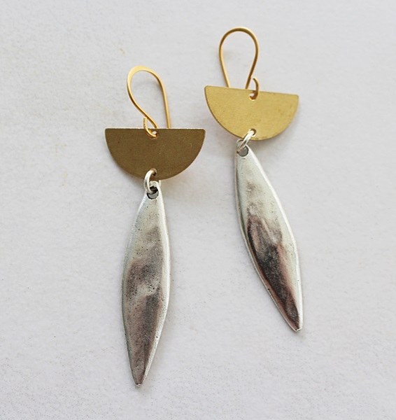 Mixed Metal Earrings - The Sonia Earrings