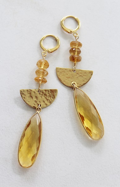 Citrine Dangle Earrings - The Autumn Earrings