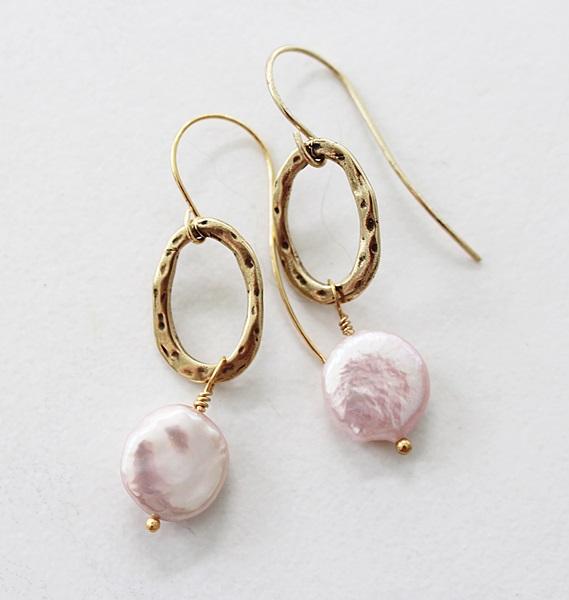 Blush Fresh  Water Pearl Earrings - The Christa Earrings