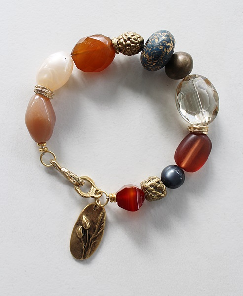 Mixed Gem, Glass and Lucite Bracelet - The Harvest Bracelet