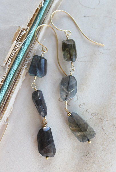 Labradorite Trio Earrings - The Frances Earrings