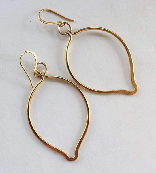 Gold Toned Arabesque Earrings - The Athena Earrings