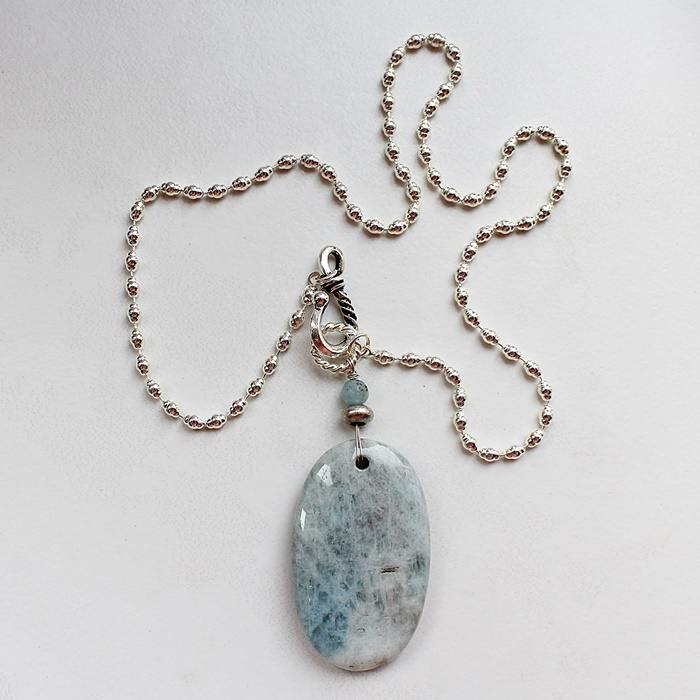 Sterling Clad Jasper OOAK Pendant Necklace - The Mara Necklace
