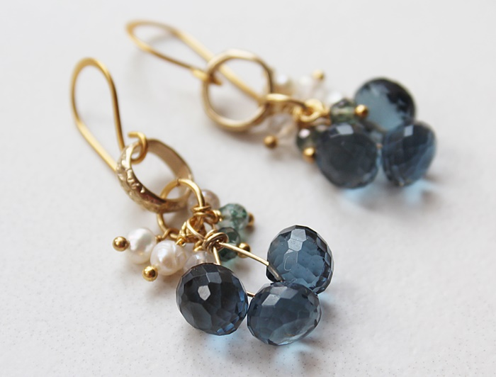Hydro Quartz and Cluster Earrings - The Becca Earrings