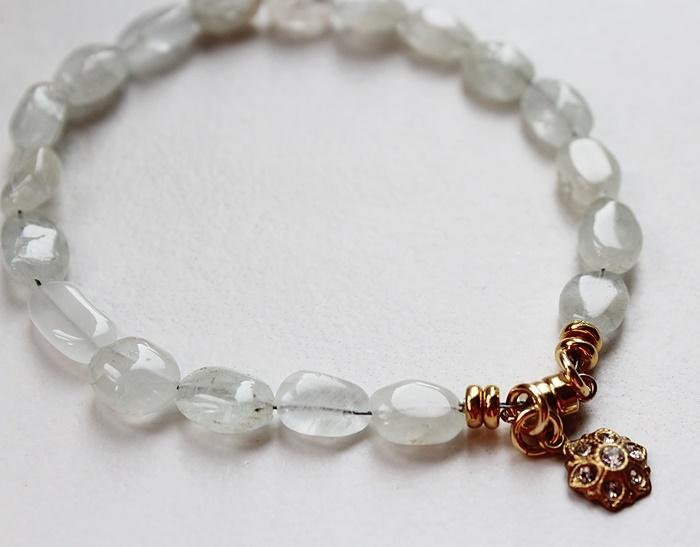 Rose Quartz or Aquamarine Bracelet - The Gemma Bracelet