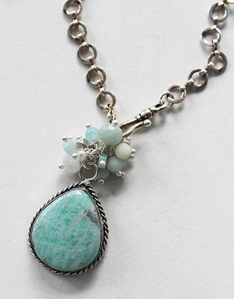 Assorted OOAK Sterling Silver Pendant Necklace Set (3)