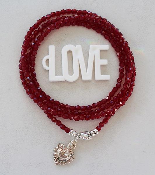 Czech Glass Quadruple Wrap Bracelet/Necklace - The Kyra Bracelet