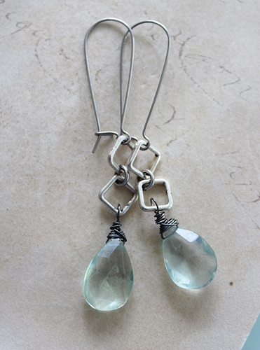 Fluorite Drop Earrings - The Celina Earrings