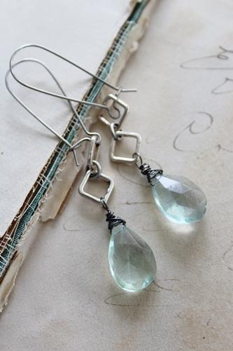 Fluorite Drop Earrings - The Celina Earrings