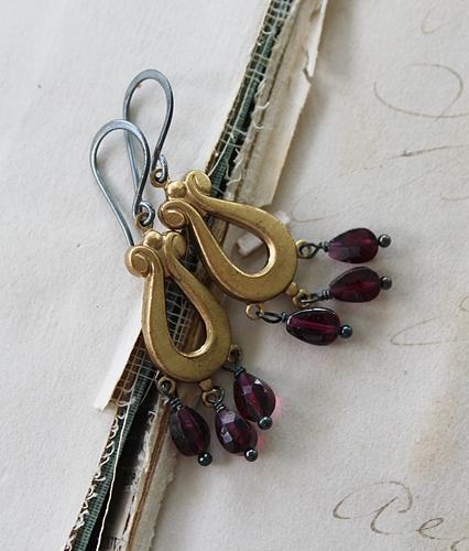 Labradorite Drop Earrings - The Shelby Earrings