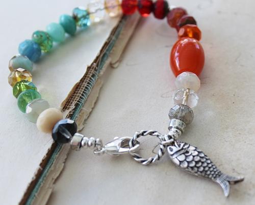 Mixed Czech Glass Bracelet - Go Fish Bracelet