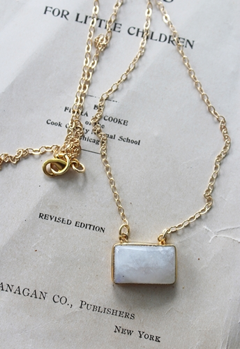 Semi-precious Bar Necklace - The Avery Necklace