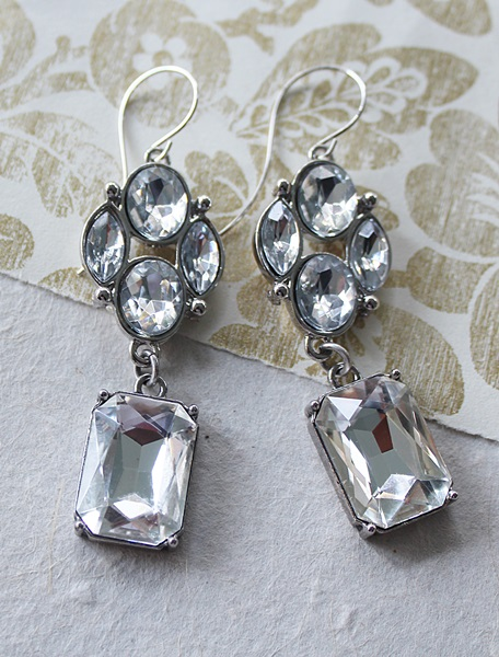 Clear Crystal Chandelier Earrings - The Carissa Earrings