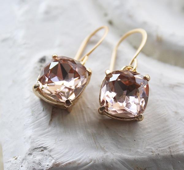 Swarovski Cushion Cut Earrings - The Olivia Earrings