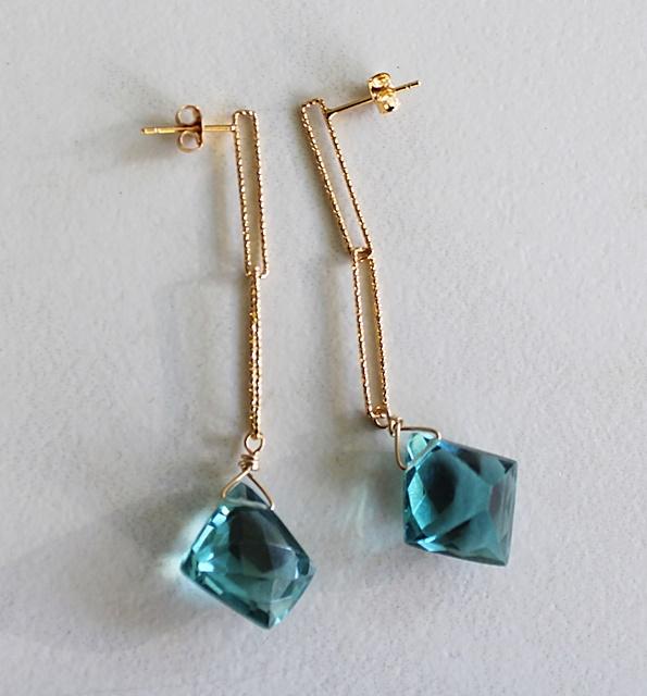 London Blue Topaz Dangle Post Earrings - The Cameron Earrings