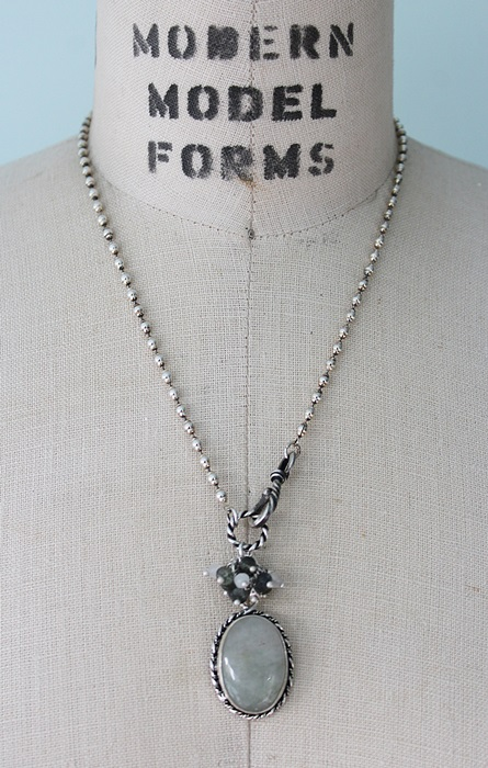 OOAK Agate Cluster Pendant Necklace