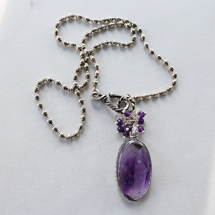 OOAK Amethyst Pendant Necklace
