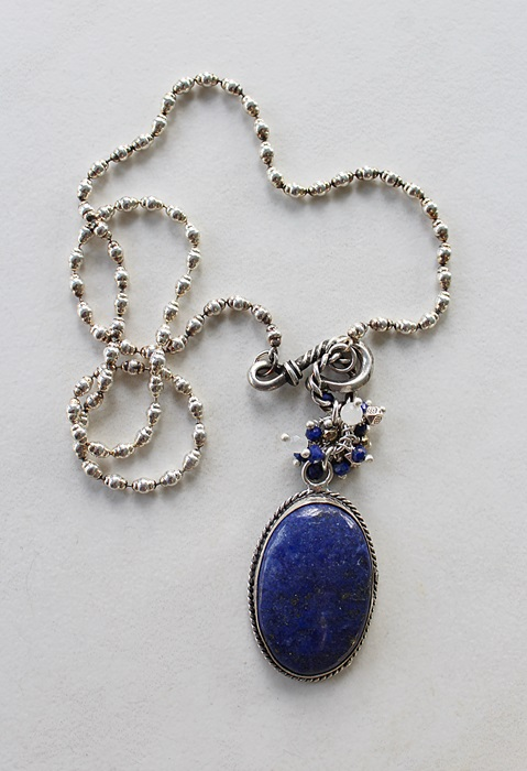 OOAK Lapis Pendant Necklace